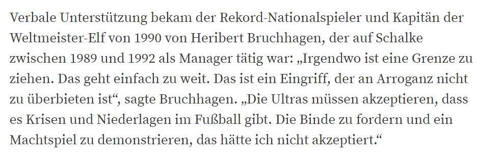 Da bin ich voll und ganz bei #Bruchhagen auch schon bei #FCNBVB als mit der Tennisball Aktion aktiv in das Spielgeschehen eingegriffen wurde. Hier müssen ganz schnell und ganz deutlich Grenzen gesetzt werden!   https://www.waz.de/sport/fussball/s04/matthaeus-und-bruchhagen-kritisieren-schalke-ultras-id216575939.html…