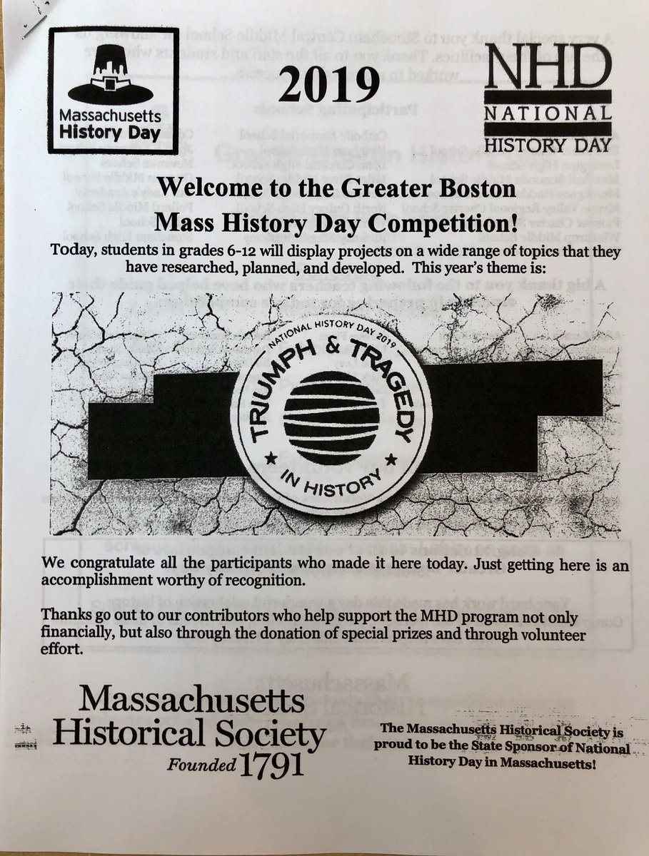 MA History Day (@MAhistoryday) | Twitter