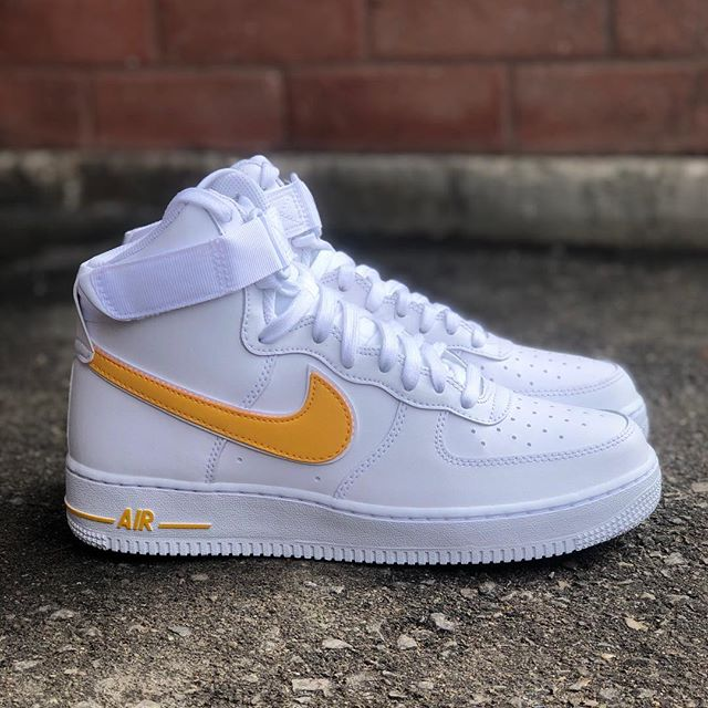 """online store 53f4b aeee0 Spring 2019 Collection Mens Nike Air Force 1 High  07 3 """"White University"""