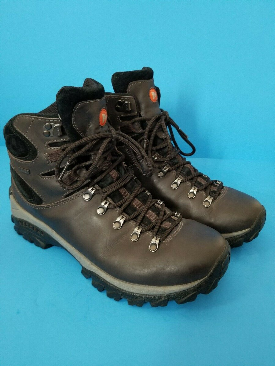 66e1de0e58594 Check out Merrell Ridgeway Men's Size 12 Espresso Leather Waterproof Hiking  Boots #Merrell https://ebay.us/K9zwXF via @eBay #ebay #eBayTopRatedSeller  ...