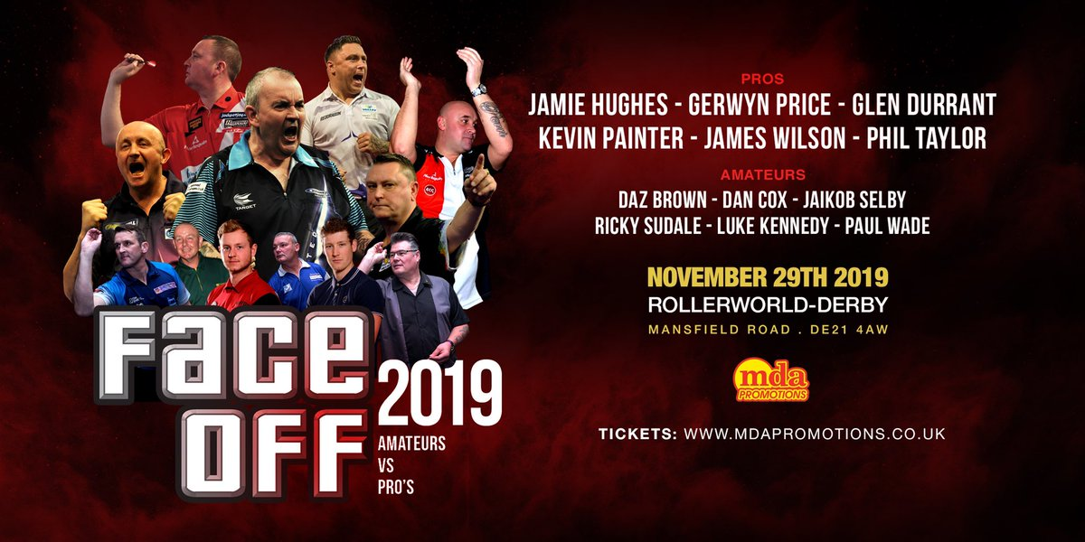 See Gezzy Price @jamiehughes180 @JammyDodger180 @Duzza180 and the best there is @PhilTaylor live in Derby November 2019