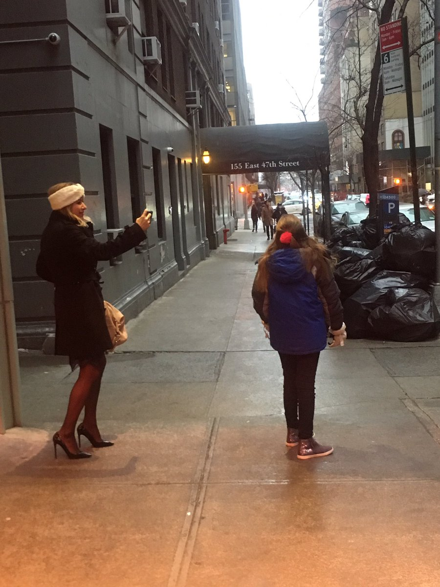 Taking pictures of Siena catching the first snowflakes before heading off to an event! #congressmom