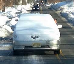 Messy rush hour commute tomorrow morning! Give yourself extra time and clear off ENTIRE car before driving!!! #carscan'tsee #youWILLgetticketed!