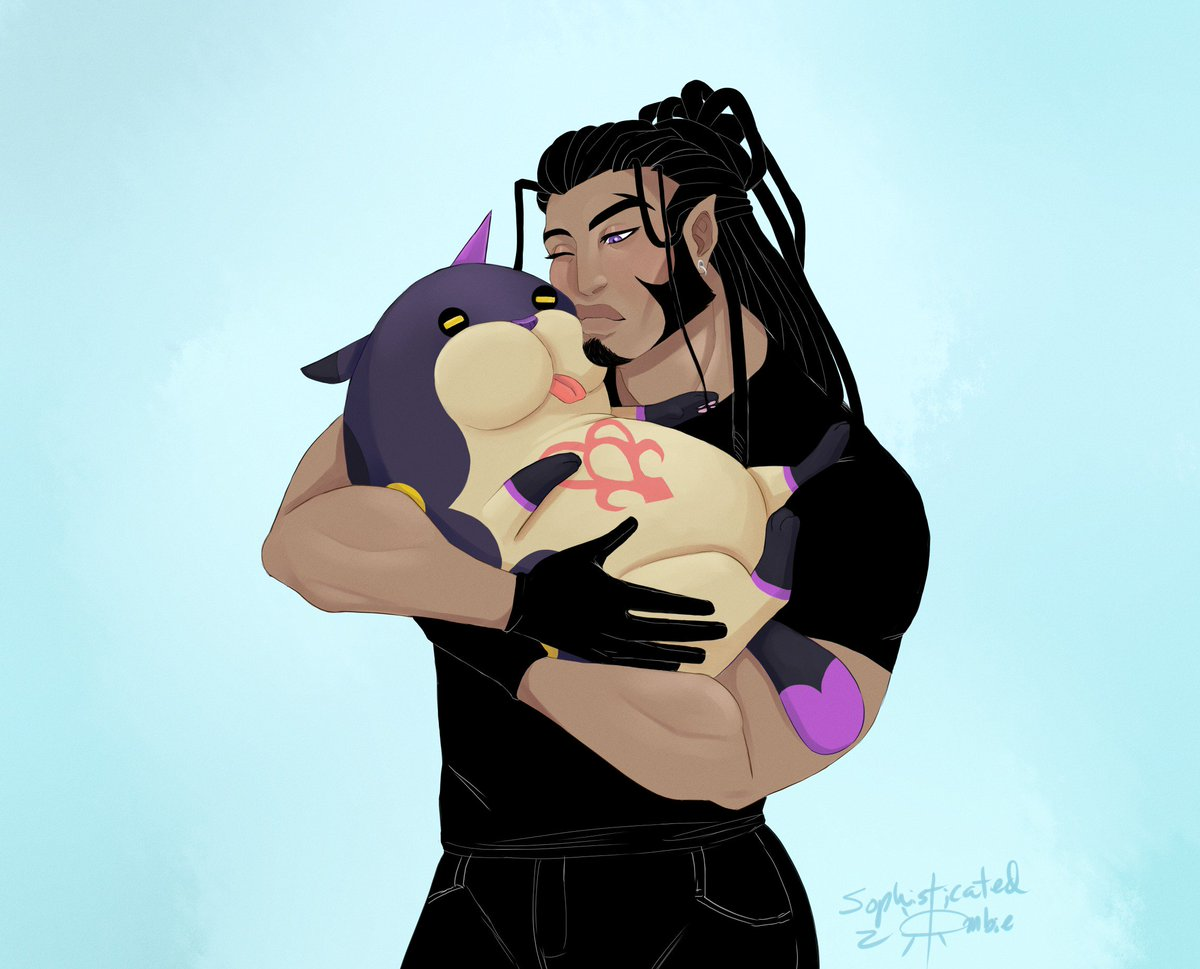 On this fine 3/3 day may I present to you #Xaldin hugging a Meow Wow. #KingdomHearts