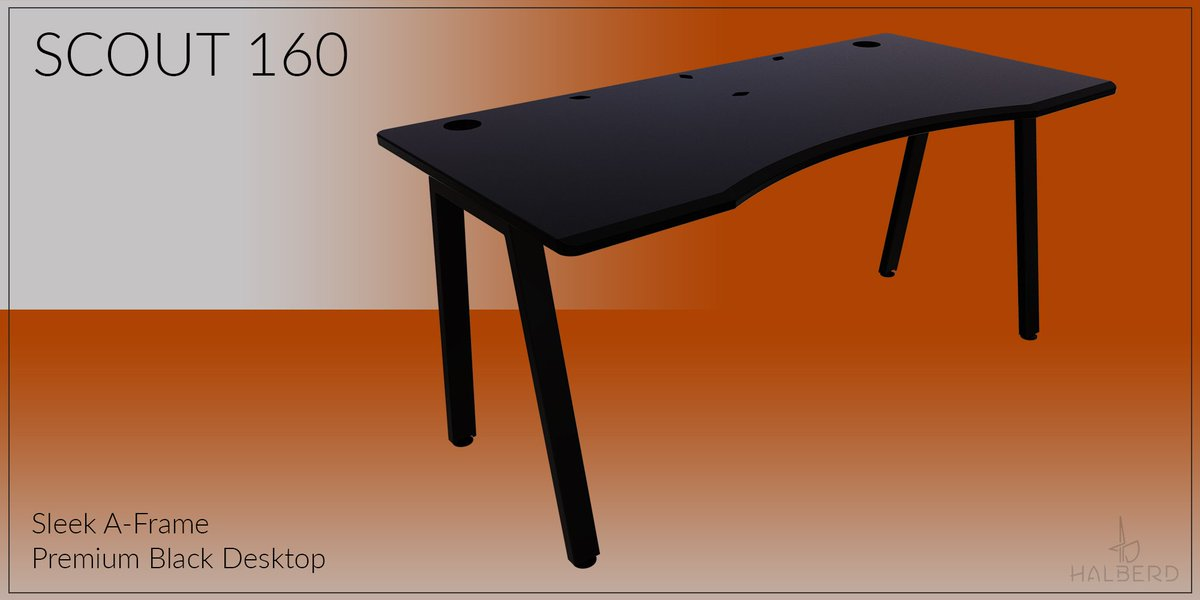 Picture of: Halberd On Twitter Need An Incredible New Desk For Your Setup Then Look No Further Than Our Halberd Desks Each Halberd Desk Has An Ergonomically Designed Powder Coated Desktop And A Strong But