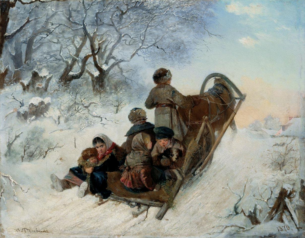Открытки с репродукциями картин русских художников, картинки