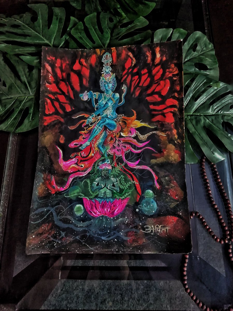 Its been a long since I painted Shiva.   For me, Shiva is just not a name. He is the purest emotion. He is all that there is and there is nothing beyond him.   #Shivaratri Size-A3