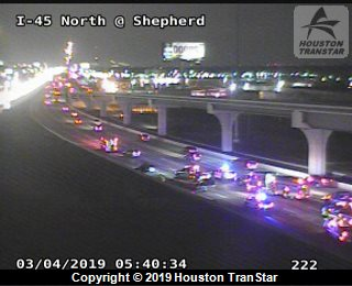 Traffic alert: fatal crash on i-45/north freeway in north