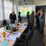 Image for the Tweet beginning: #OUAS #ServiceDesign team facilitating a