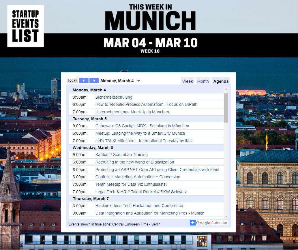 Startup Events List - Munich (@StartupEventMUN) | Twitter