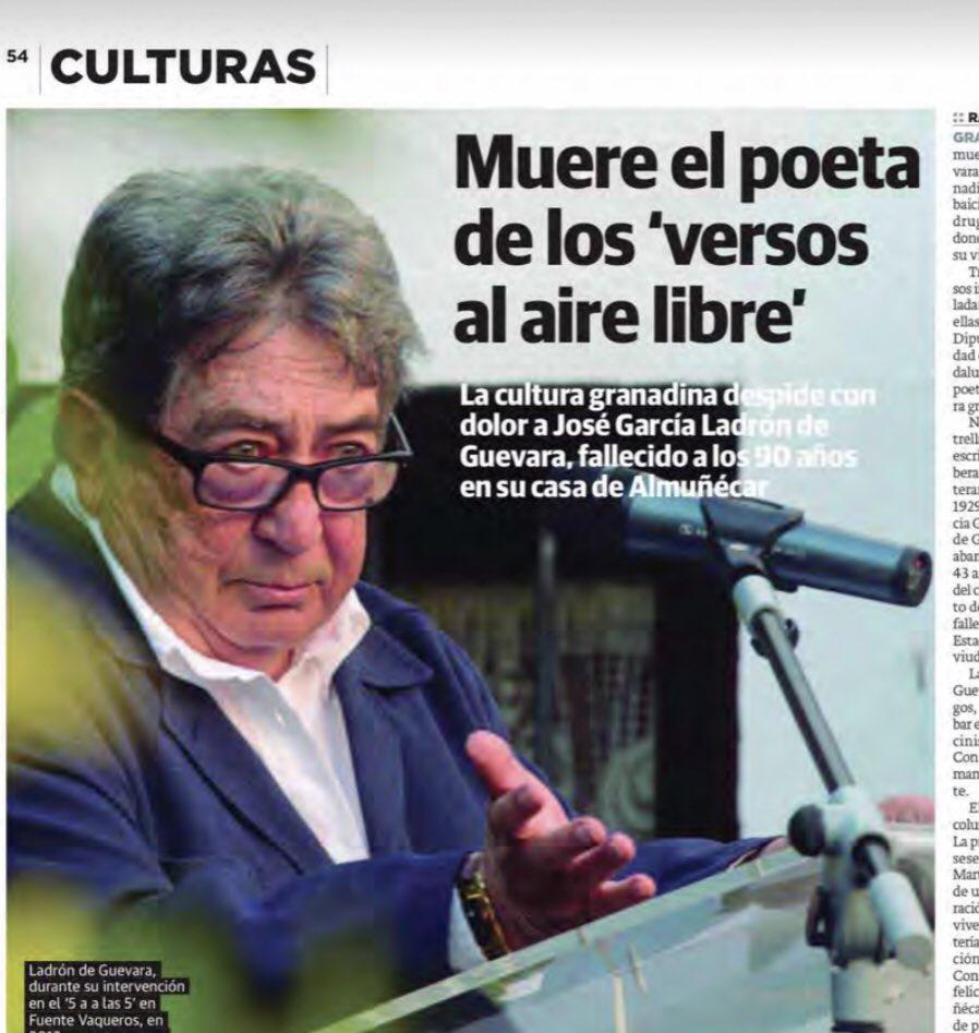 La muerte del poeta Pepe Ladrón de Guevara deja un enorme vacío en #Granada D.E.P.