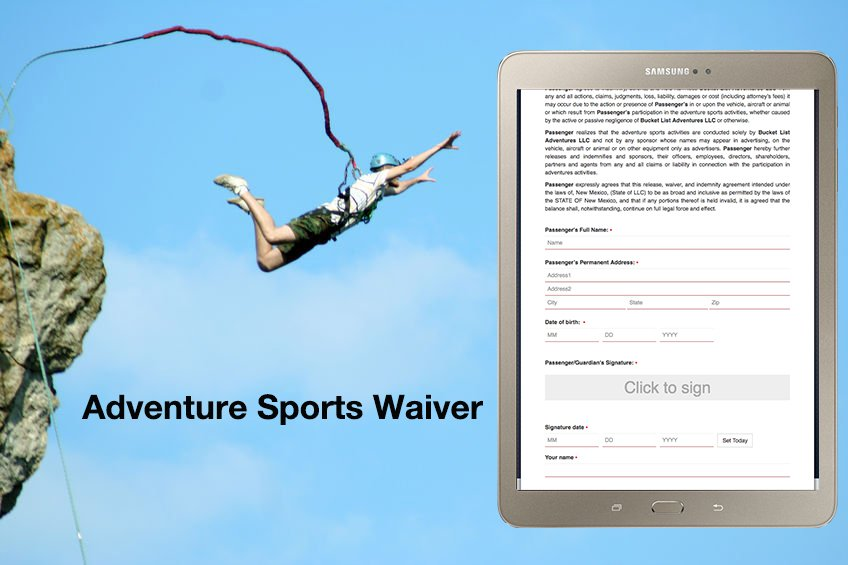 Create accident electronic waivers for adventure sports business. #WaiverApp #ElectronicSignatureWaiver #BestOnlineWaiverService #OnlineWaiver #OnlineReleaseForm #ElectronicWaiverSystem #WaiverSign #Waiver Software#Digital Waiver Software https://www.cleverwaiver.com/?ftwitter