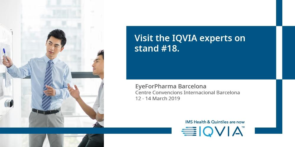 Are you attending #efpBarca next month? Come speak with #IQVIA experts at stand 18 !  Find out more here : http://bit.ly/2EGvF47