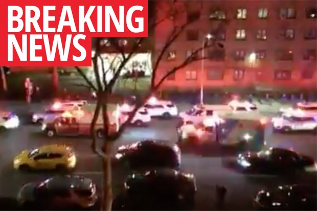 Terrifying images emerging from Manhattan in New York with reports of a shooting