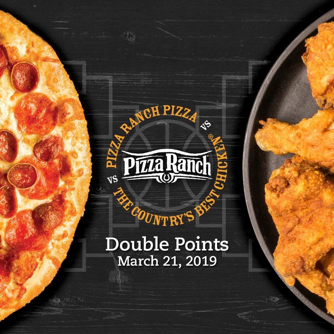 This Thursday.  March 21st.  DOUBLE POINTS DAY! 🍕🍗  Are you #teampizza or #teamchicken?