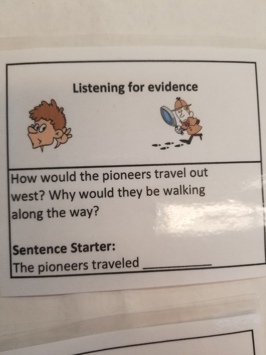 Sentence starters, examples and key vocabulary were given to