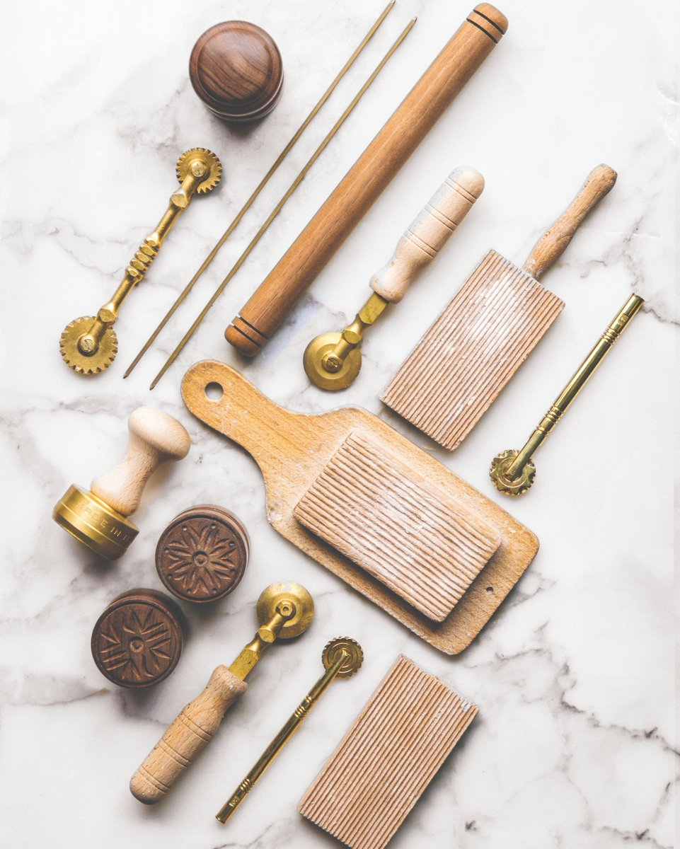 Tools of the trade:  bronze dies, gnocchi boards, pasta wheels and more. All part of the foundation of our pasta program. https://t.co/jfBg1cmhTU