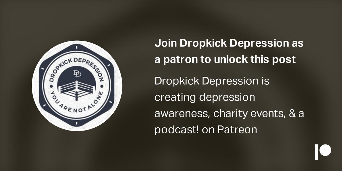 Support Dropkick Depression on Patreon! Exclusive news, videos, merchandise, and more! Tiers start at just $1! Help us make the world a better place! http://www.patreon.com/dropkickdepression …!