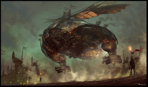 The Flying Machine Artist: Thien Nguyen Huy Source: https://t.co/Fw3YGXhJsv #fantasy #steampunk #adventure #machine #clouds #gears #fly #gsotd2019 See over 1900 fully sourced images: https://t.co/Eh4X3S6zCc