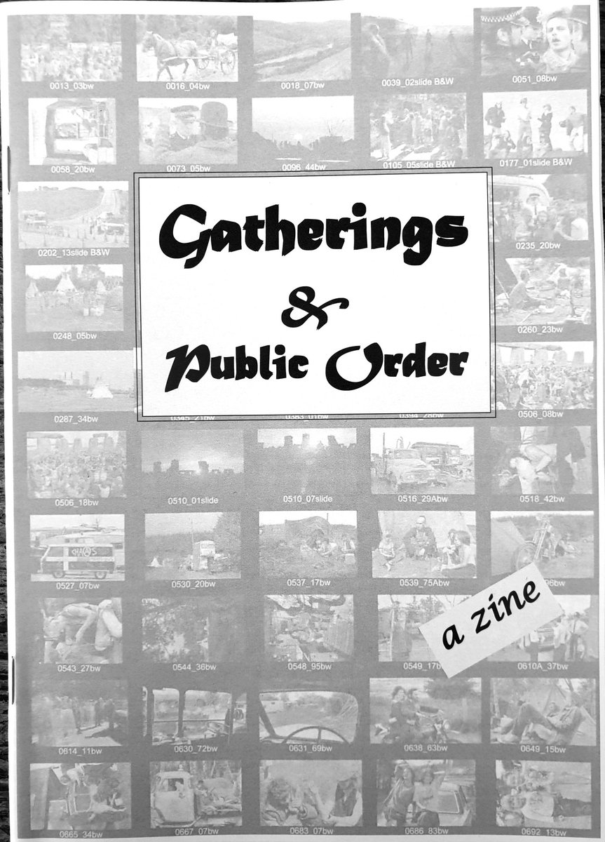 Gatherings & Public Order Zine A #Zine by Alan Lodge  [A5 24 Page] A short history describing the #Travellers, #Free #Festivals and #FreeParty scene. #Police, Policing and #Surveillance #photography https://www.ebay.co.uk/itm/283411769501… Please share about. Thanks