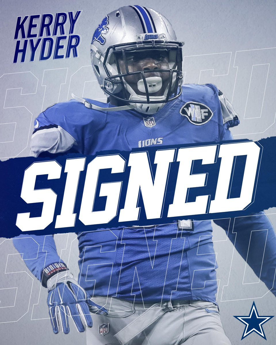 The #DallasCowboys have signed free agent defensive end Kerry Hyder, a three-year veteran who previously was on the Detroit Lions.  MORE →  http:// bit.ly/2JmFx8q  &nbsp;  <br>http://pic.twitter.com/n7KV5F4gLK