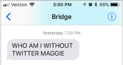 Just a little taste of how Bridget's doing...