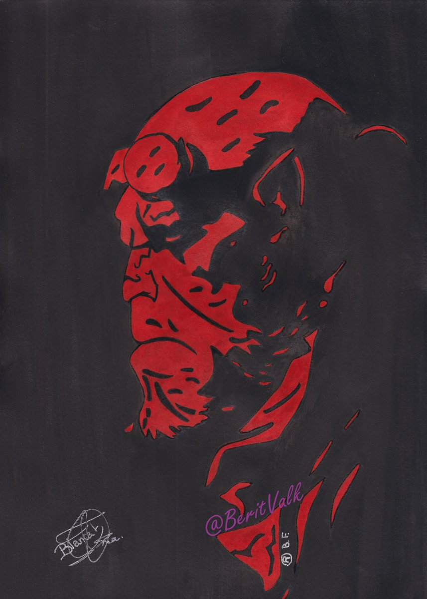 Hellboy. I&#39;ve always loved his colour #Hellboy  #Mignola #Dibujo #Drawing #Ink #Sketch #Doodle #Fanart #Illustration #Comic<br>http://pic.twitter.com/gwjuL9NBgK