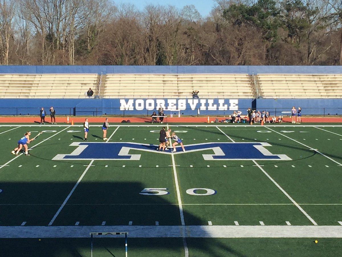 CSD girls lacrosse starting at Mooresville.