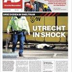 Voorpagina AD Utrechts Nieuwsblad (@redactieadun) dinsdagochtend na maandag 18.03.19
