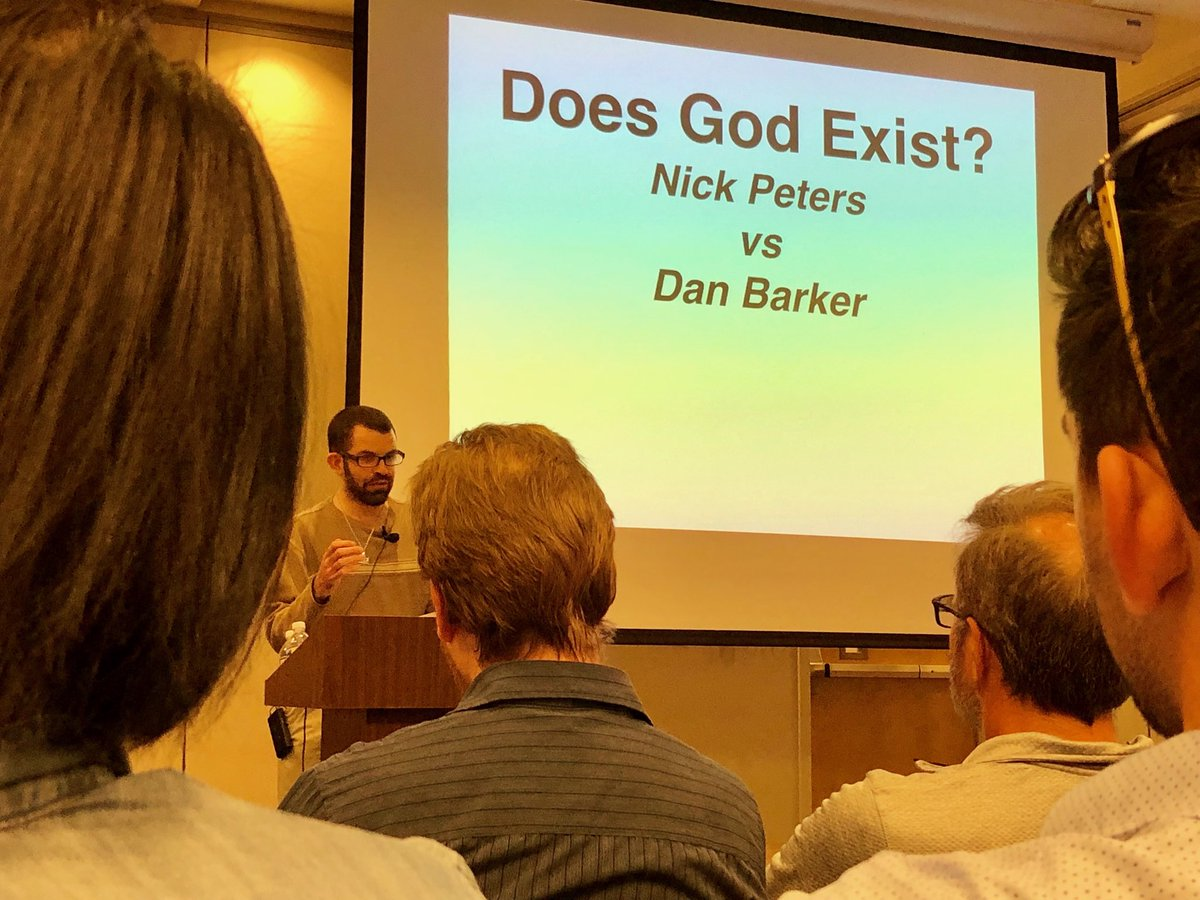 "Nick Peters giving his opening statement in a debate with Dan Barker on the question ""Does God Exist?"" at the University of North Georgia - Gainsville! <br>http://pic.twitter.com/vihD2jd0D3"