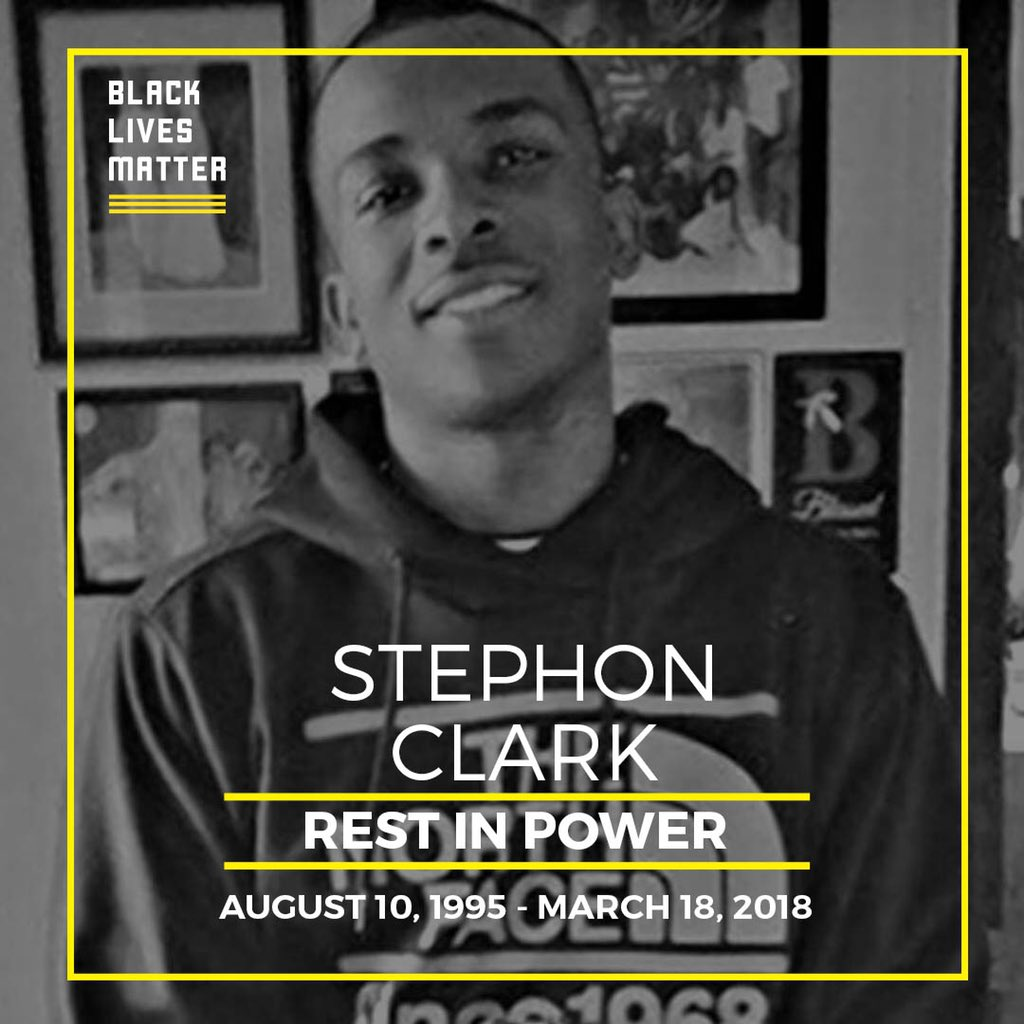 We will never stop fighting to end anti-Black racism and state sanctioned violence against us.  #blacklivesmatter #stephonclark #RestInPower