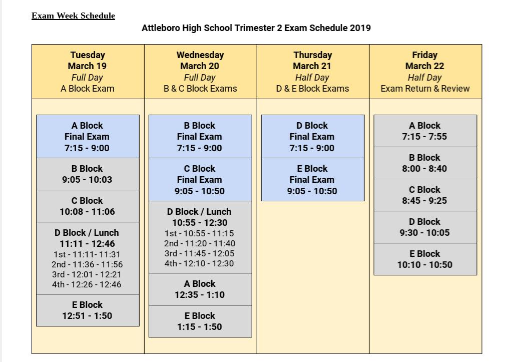 .@AHS_Bluepride bell schedule for tomorrow and the rest of the week <br>http://pic.twitter.com/d0oh5IfIZV