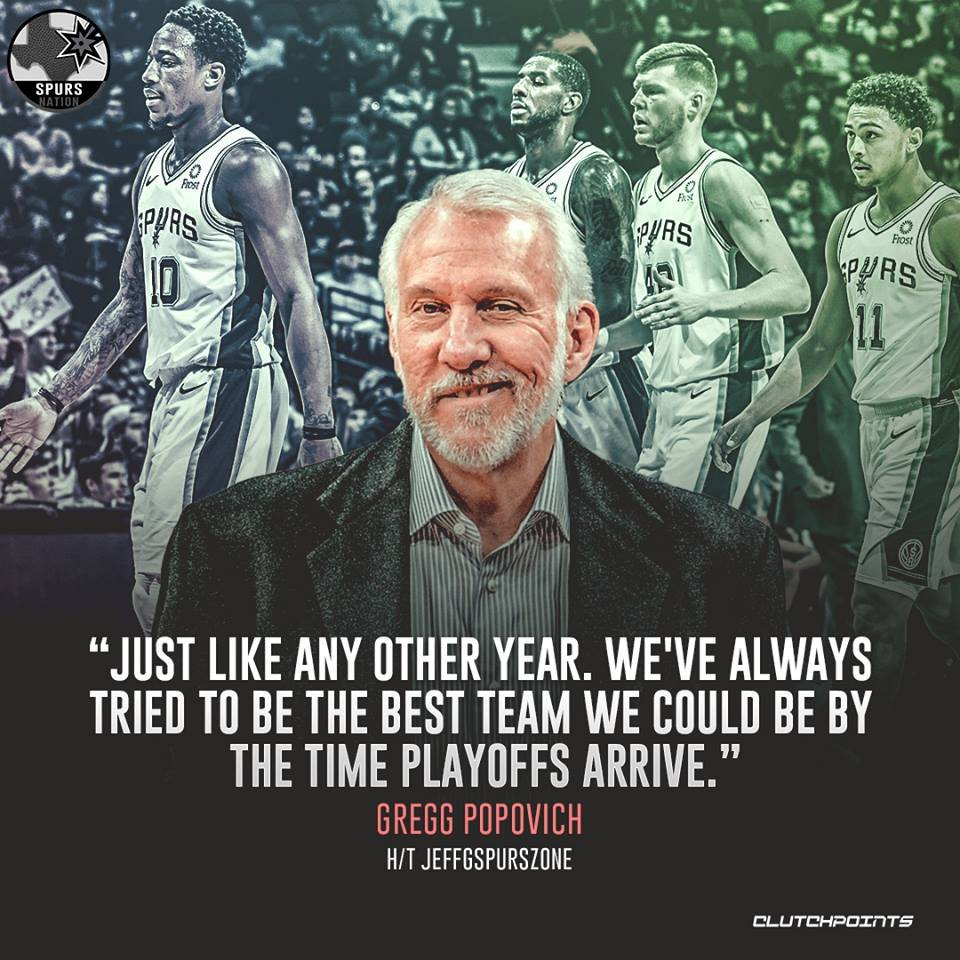 Timing is everything, and Gregg Popovich sure knows it  #Spurs #GoSpursGo  <br>http://pic.twitter.com/qcOI5TZCxZ