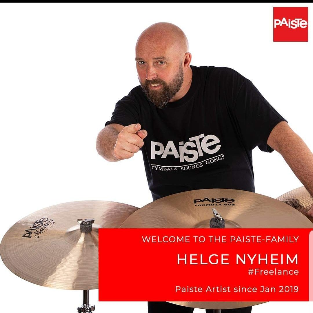 Proud to be a part of the great Paiste family ! Paiste rules 👍 @PaisteNation