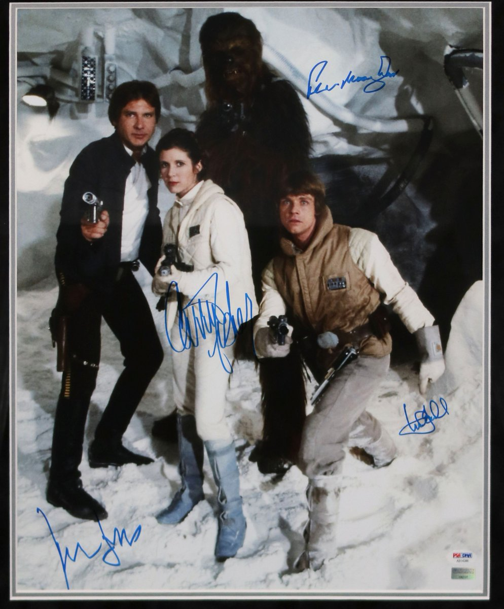 Sneak peek at our sweepstakes prize for @Comic_Con — this cast-signed #StarWars piece. We'll see you in July! #SDCC
