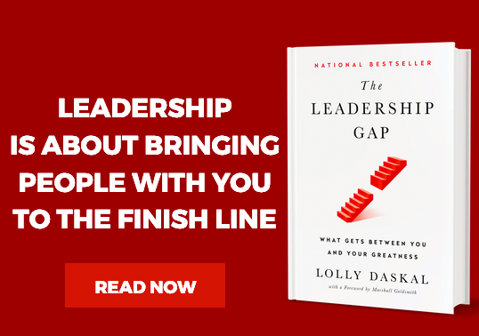 """LEADERSHIP is about bringing PEOPLE with you to the FINISH LINE.   LEARN WHY: #1 National #Bestseller >>> """"The Leadership Gap"""" By @LollyDaskal http://amzn.to/2nfhSuL  #TheLeadershipGap #Book #Leadership #Management #HR"""