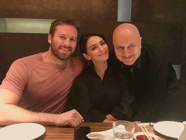 #HotelMumbai union. Happy to be with my friends and co actors @nazaninboniadi and @armiehammer.😍 @hotelmumbaifilm