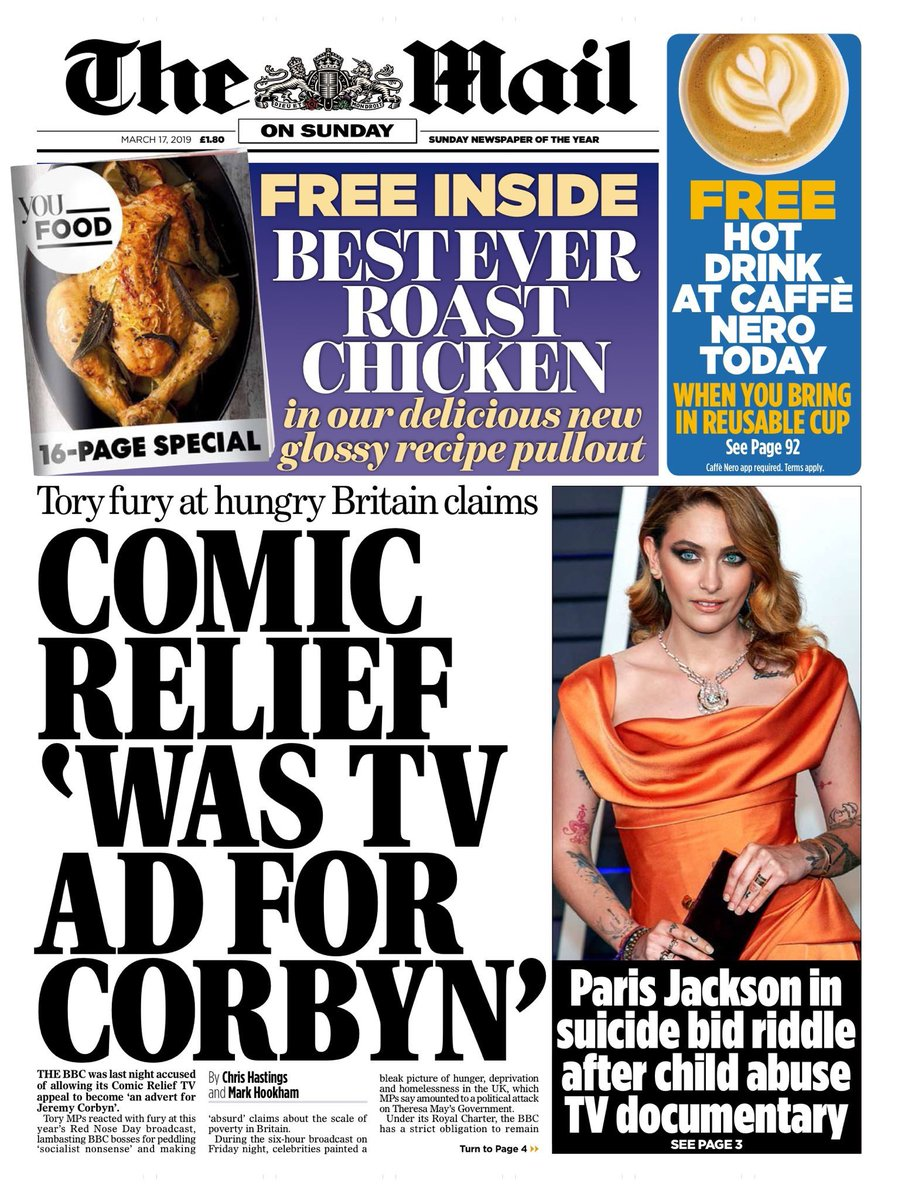 I think you&#39;ll find that they&#39;re not allowed to be political or criticise the government, as RND is a charity.  But the fact @DailyMailUK have come to this conclusion, proves our point. The Tories are destroying the UK!  #SackThePM #JC4PM #TomorrowsPapersToday<br>http://pic.twitter.com/pEROXZe0LU