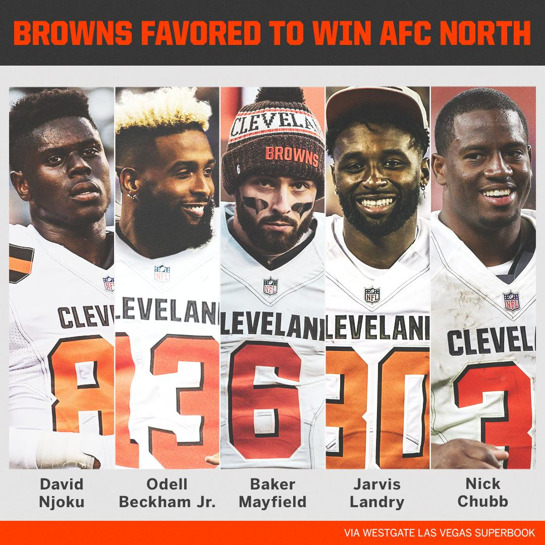The Cleveland Browns have opened as favorites to win the AFC North  <br>http://pic.twitter.com/itDEmh0i7y