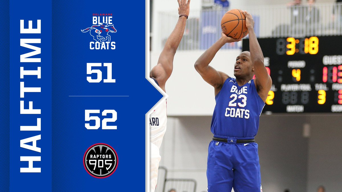 ☑️☑️⬜️⬜️ A close one headed into the break. @nbagleague | #JoinTheRevolution
