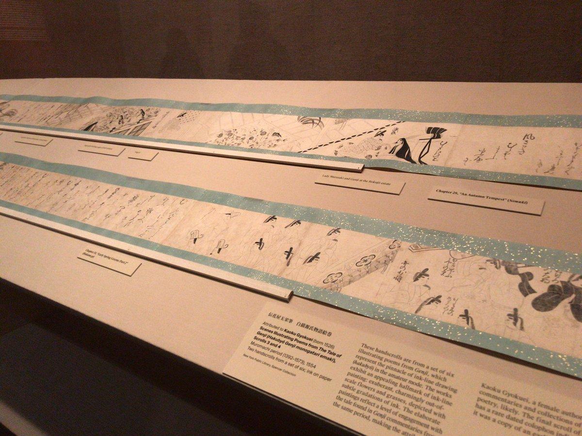 RT @KS_1013: メトロポリタン美術館では源氏物語展。ガイドをやっている友人とともに開館前から入れてもらえる贅沢。 https://t.co/ac8bEJwwLB
