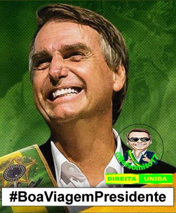 #BoaViagemPresidente Foto