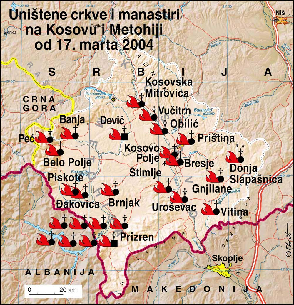 17th of #march 2004,was the day when #Kosovo Albanians destroy and burn centuries of Serbian #History   #YearsBack that was the #WorldSleepDay   #WorldAgainstRacism was silent and they still are  #Nobody care when they steal our land  But we care because Kosovo is Serbia<br>http://pic.twitter.com/a1WXn3BG5z