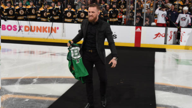 b2691bd2619 Conor McGregor ( @TheNotoriousMMA ) had the most Conor McGregor entrance  before dropping the puck at in Boston. MORE @ https://t.co/r4IXDRsYOD