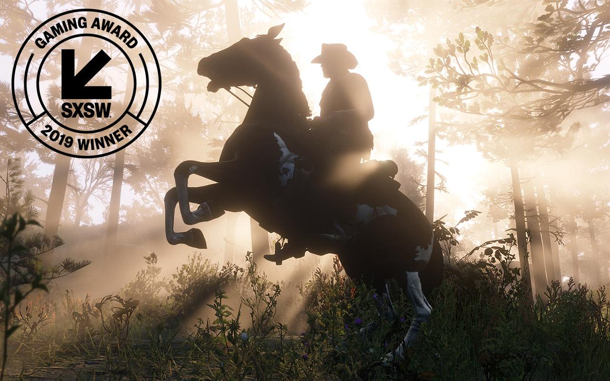 The award for Trending Game of the Year goes to... Red Dead Redemption 2 by @RockstarGames! #SXSWGamingAwards<br>http://pic.twitter.com/GWdJBbiG0A