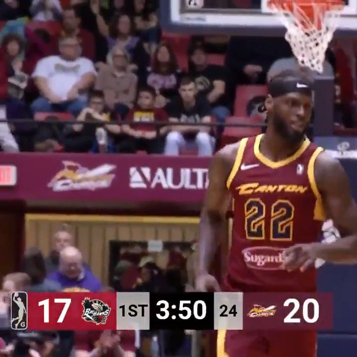 JaCorey Williams (@_JWilliams22) helped lead the @CantonCharge to victory on Saturday night with 18 PTS, 13 REB, 6 AST & 4 BLK ⚔️  @MT_MBB ↗️ @CantonCharge