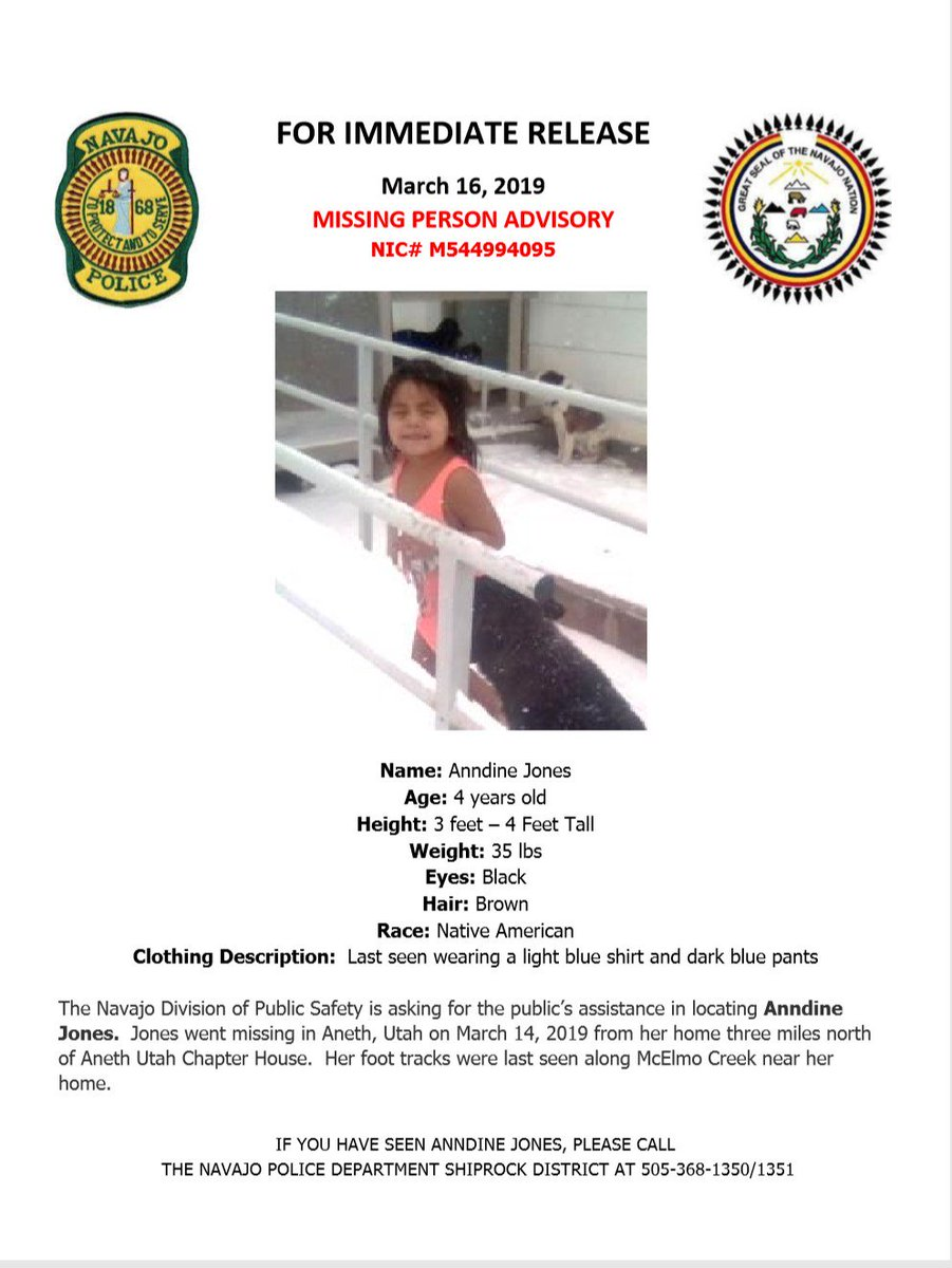 HAVE YOU SEEN HER? Navajo Nation looking for missing 4-year-old girl.