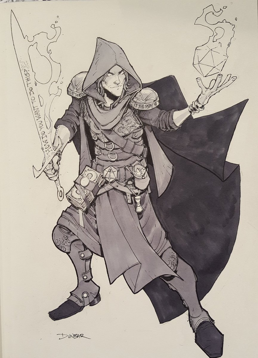 A Mercer Battlemage commission from #ECCC2019 #CriticalRole