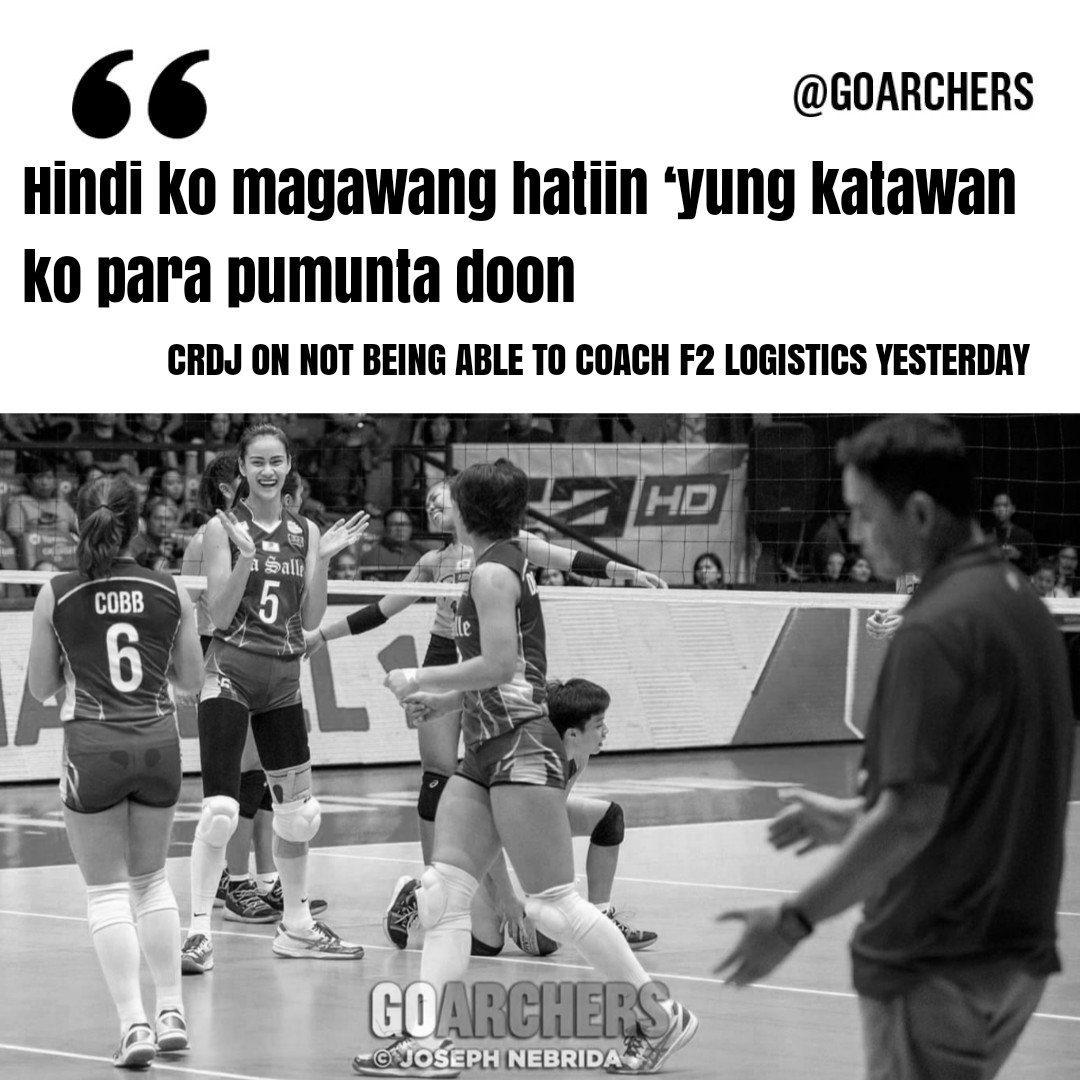 DLSU won, F2 lost. Both teams played at the same time. Coach was torn  <br>http://pic.twitter.com/WVixUio8i1