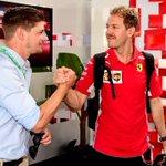 When six World Titles meet 💪🏼! #Seb5 @Official_CS27 #essereFerrari #AusGP